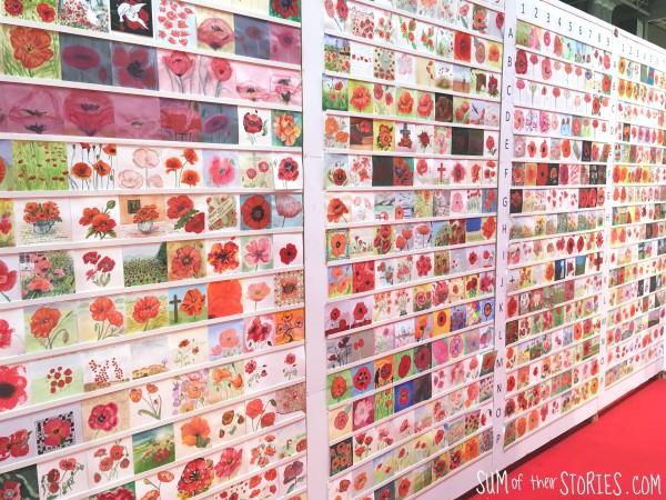 rows of paintings of poopies