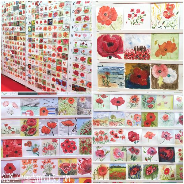 painted poppies British legion community art project