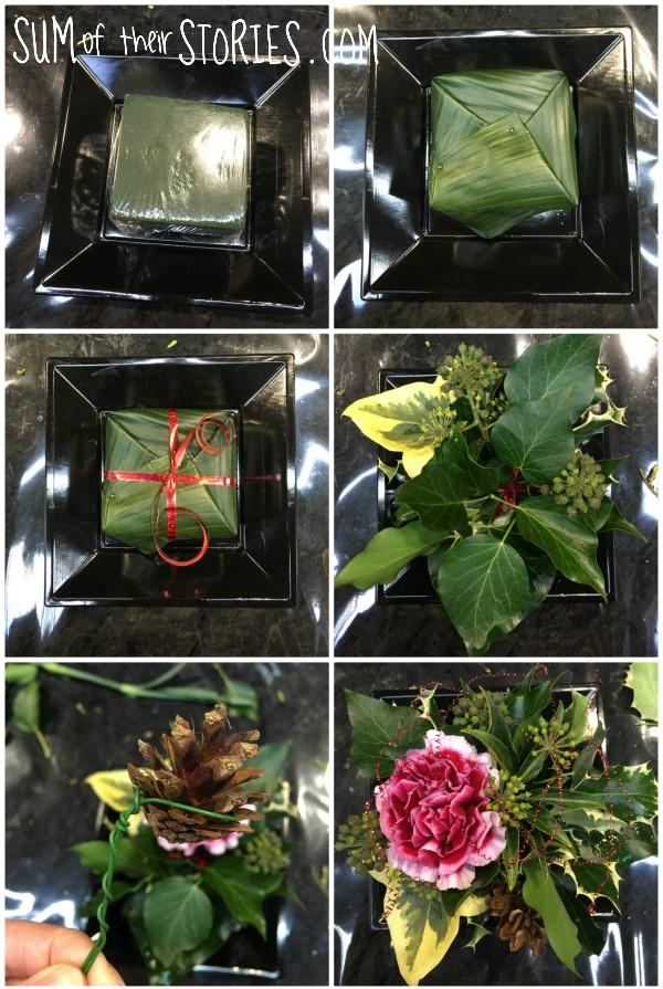 step by step floral arrangement simple