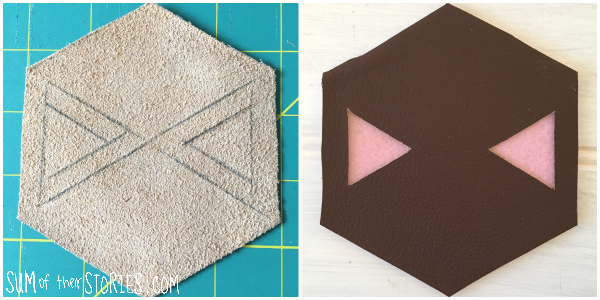 pink triangle coaster design