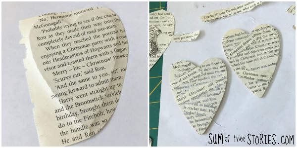 Making a book craft Christmas ornament