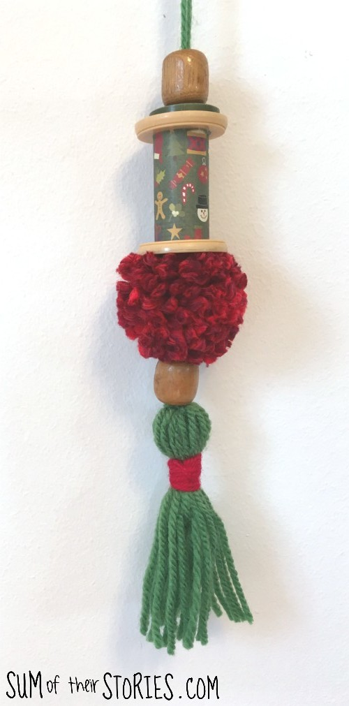 pom pom and tassel ornament