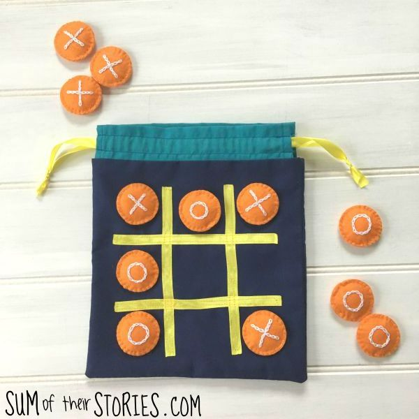 noughts and crosses travel game bag