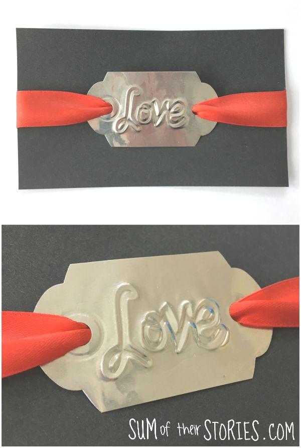 embossed foil love card tutorial