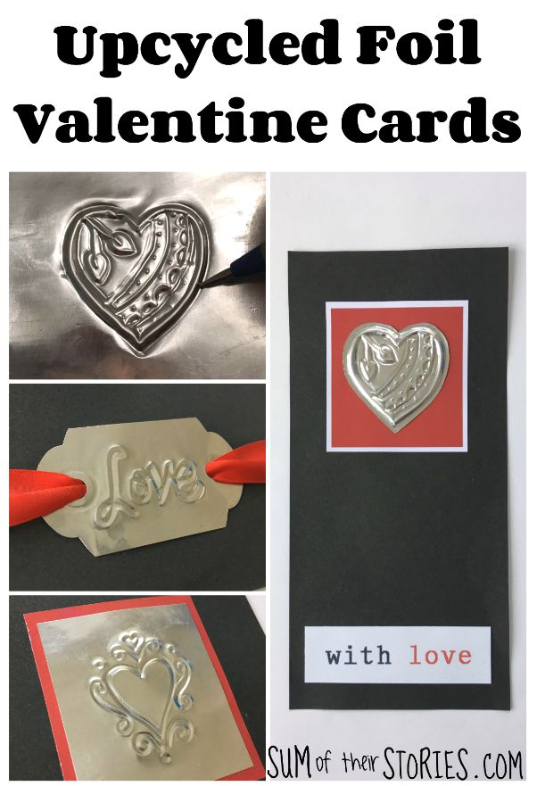 recycled foil valentine card tutorial