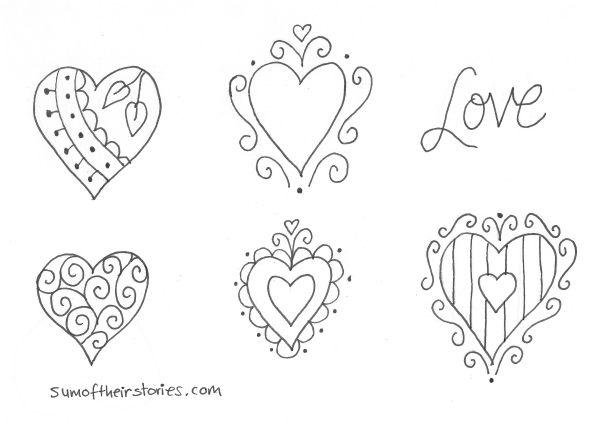 doodle heart ideas