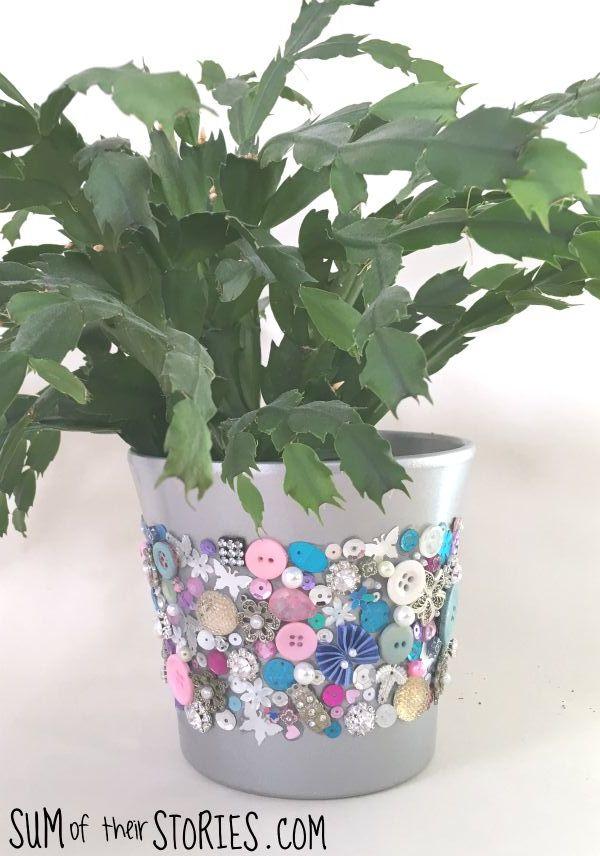 embellished plant pot
