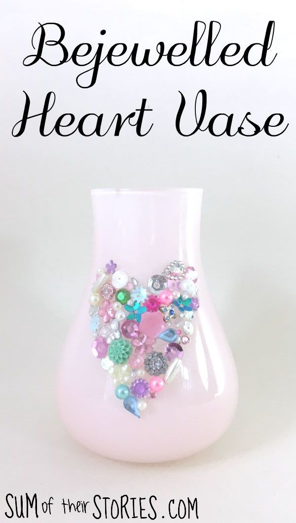 make your own bejewelled vase
