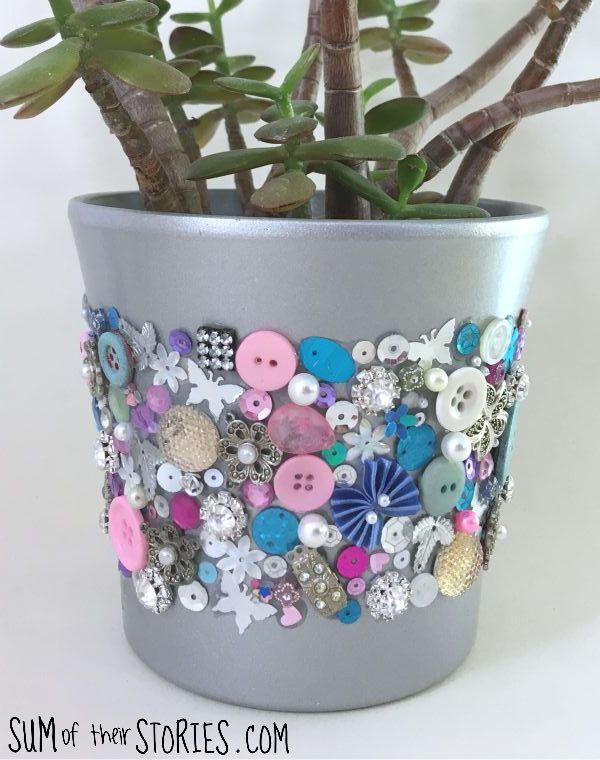 bejewelled plant pot