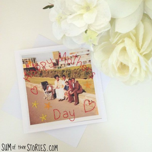 photo stitching mothers day card