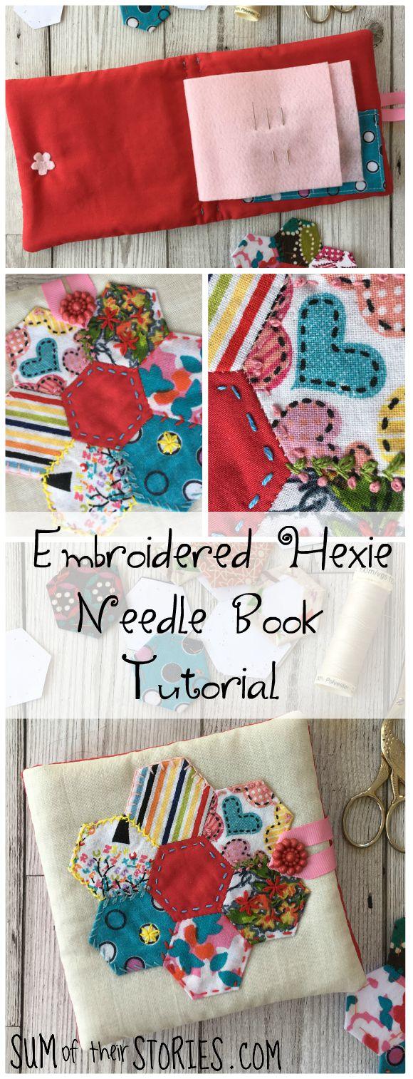 How to make a pretty needle book with patchwork and embroidery