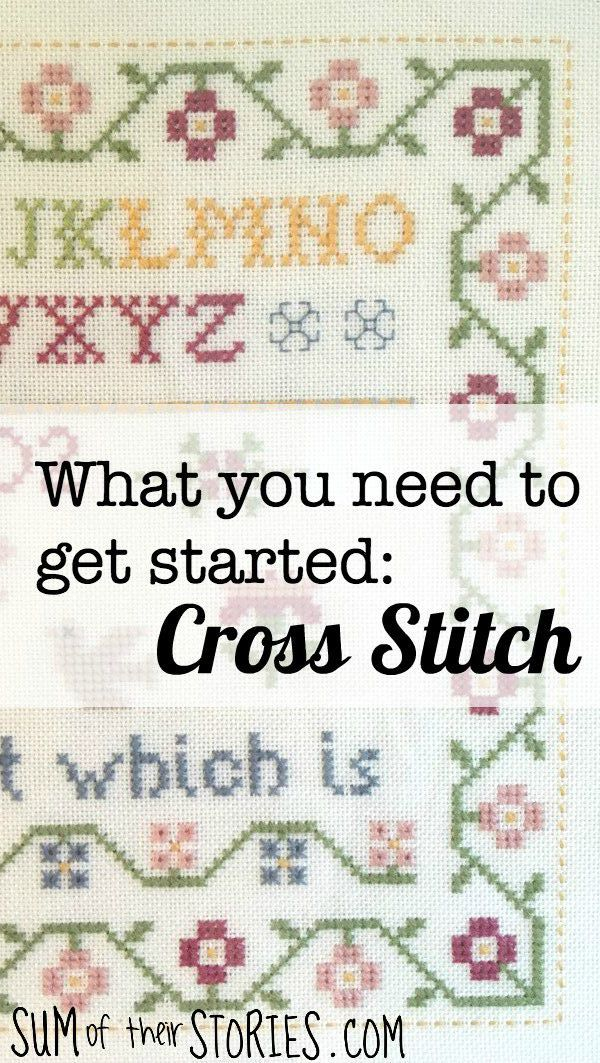 What you need to get started cross stitch