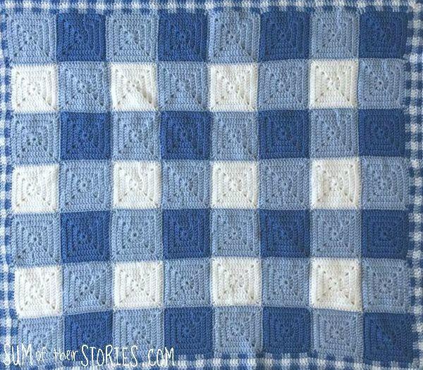 gingham design baby blanket