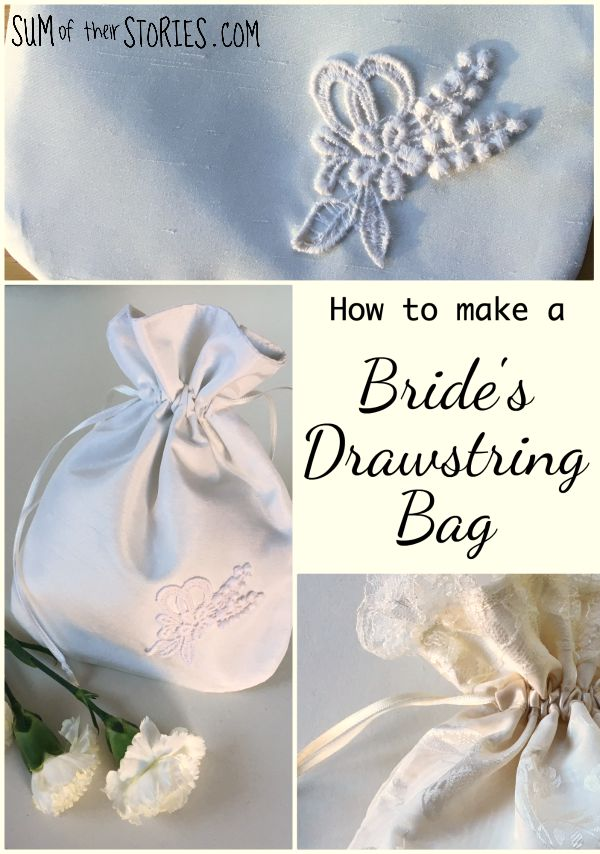 How to sew a bride's drawstring bag