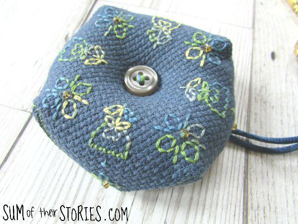 free embroidered biscornu pattern
