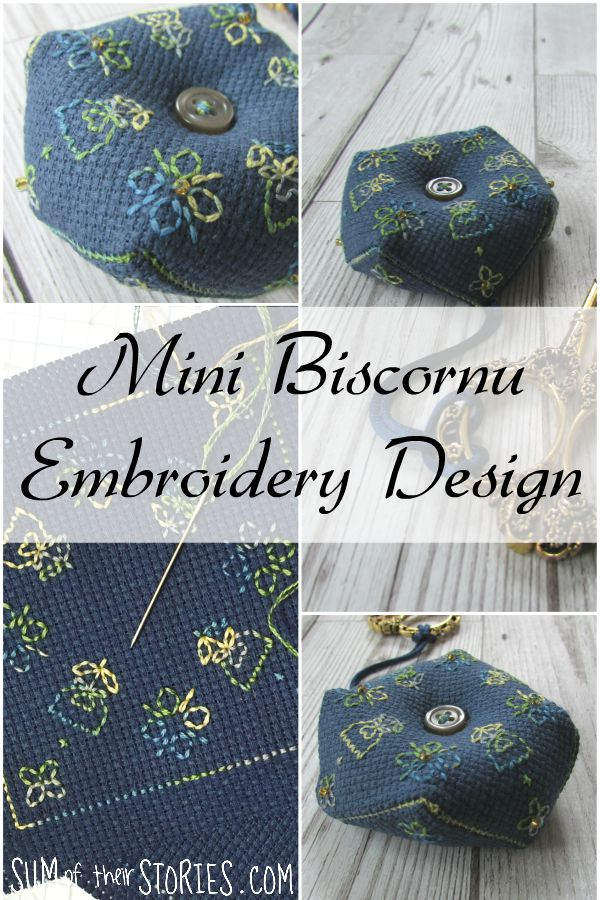 mini biscornu embroidery design
