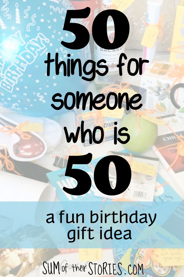 50 things you'll need now you are 50 birthday gift idea