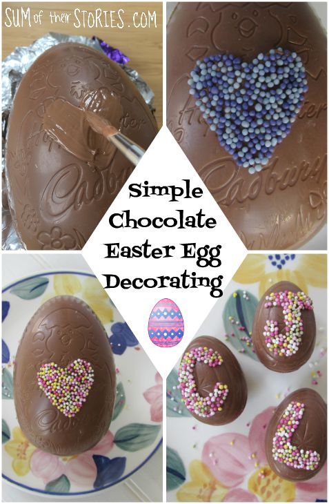 simple DIY chocolate Easter egg decorating
