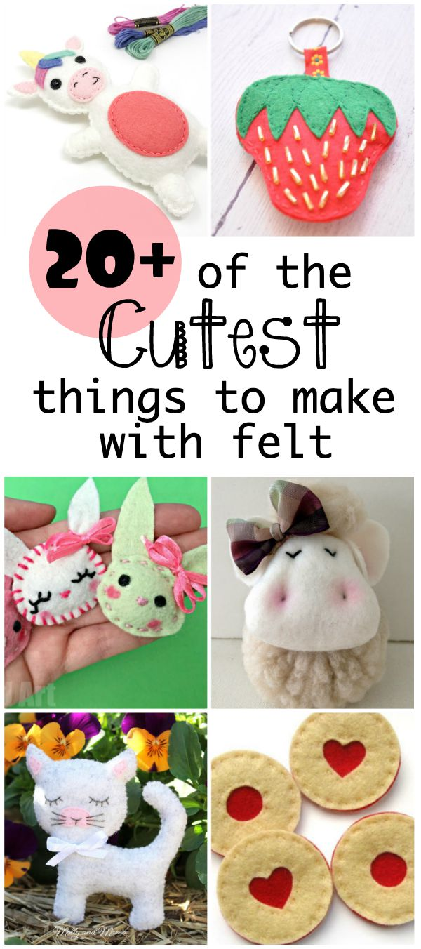 the cutest things to make with felt