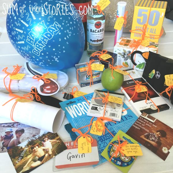Fun 50th Birthday Gift 50 Things For Someone Who Is 50 Sum Of
