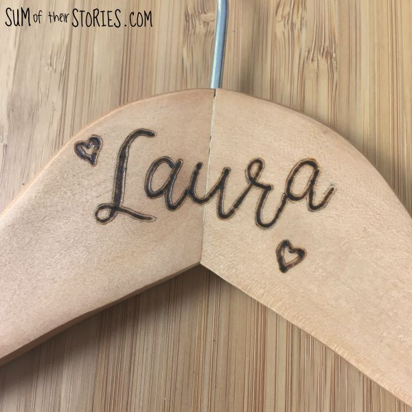 Bride's Dress Hanger - Beginner's Pyrography Project — Sum