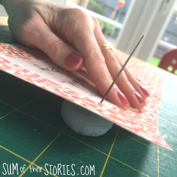 blu tack hack with papercrafting