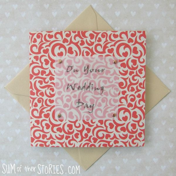 Easy way to attach vellum when card making