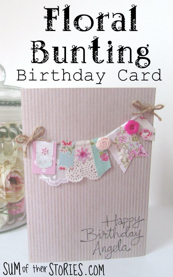How to make a floral bunting card
