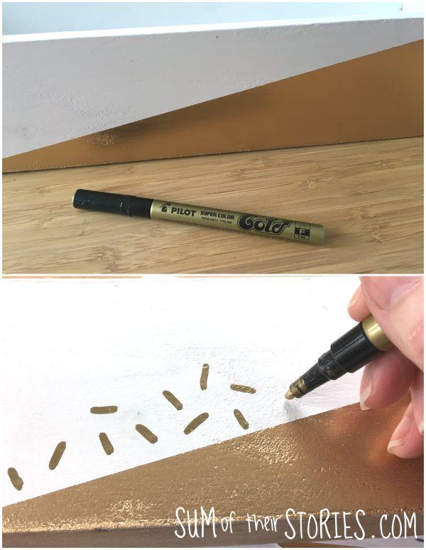 add gold confetti