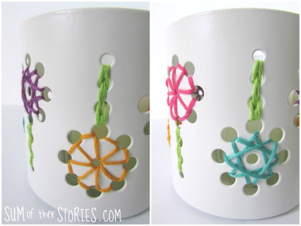embroidered tealight holder tutorial