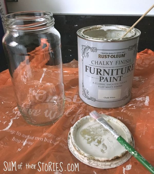 gingham vase glass jar upcycle