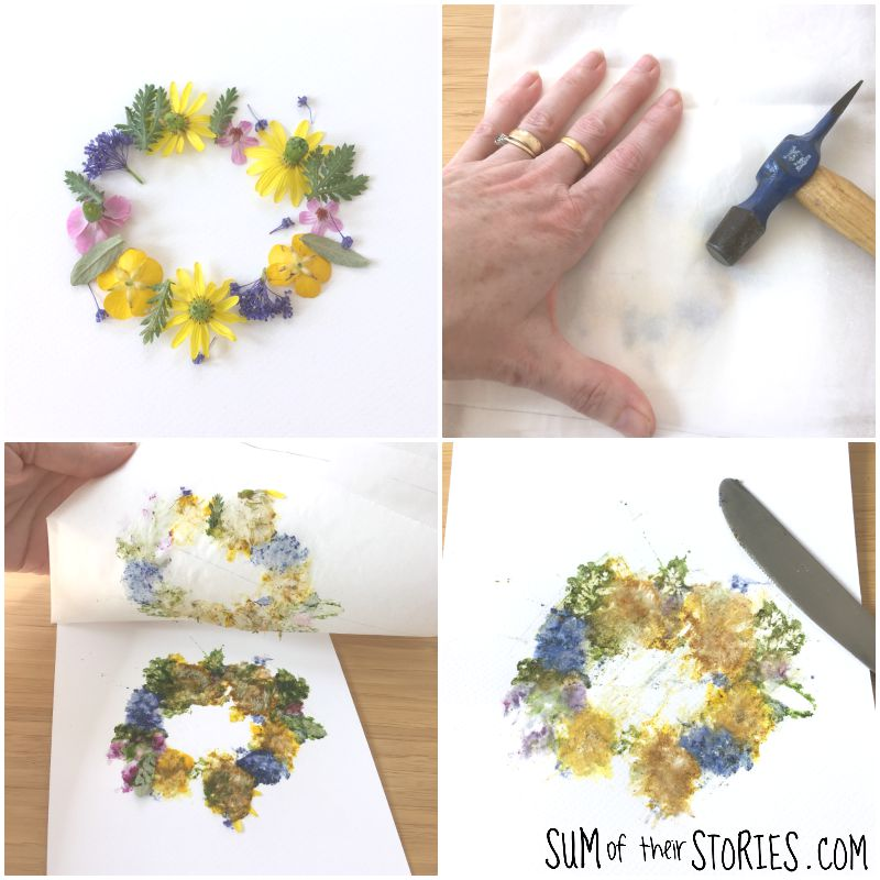 flower pounding tutorial