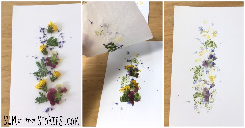 smashed flower art tutorial