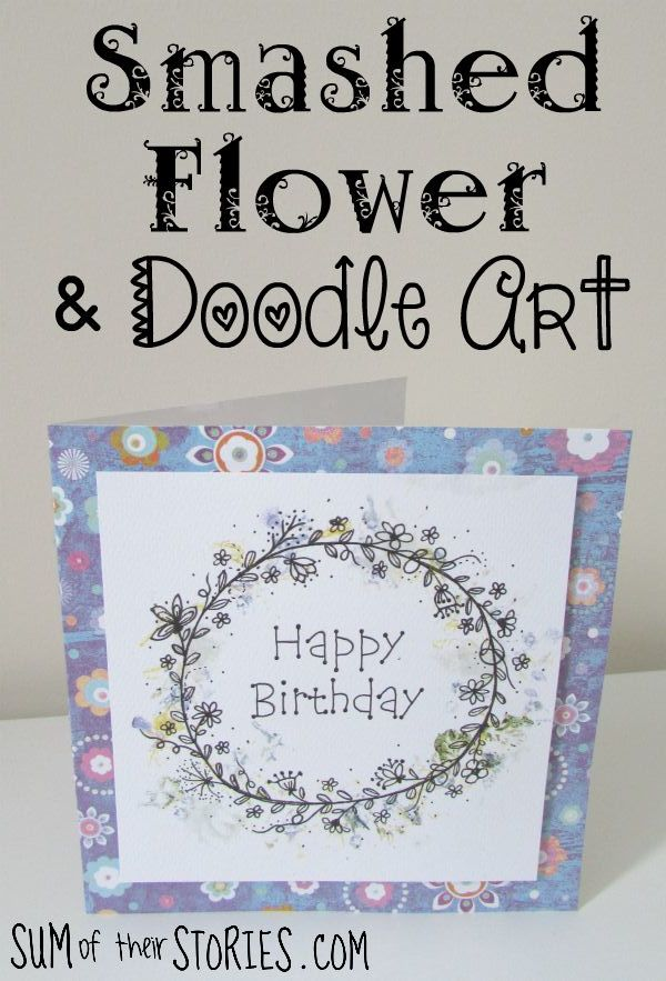 pounded flower birthday card tutorial