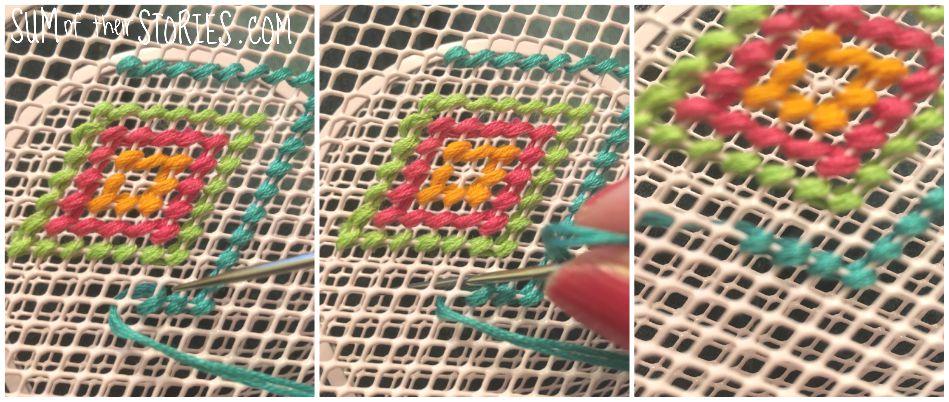 stitching on wire