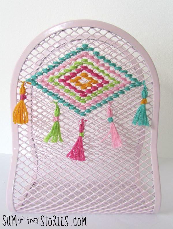 Embroidered Ikea napkin holder