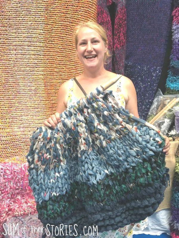 giant knitting from extreme textiles
