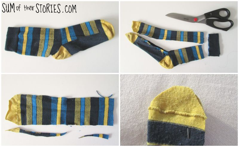 making a sock snake toy