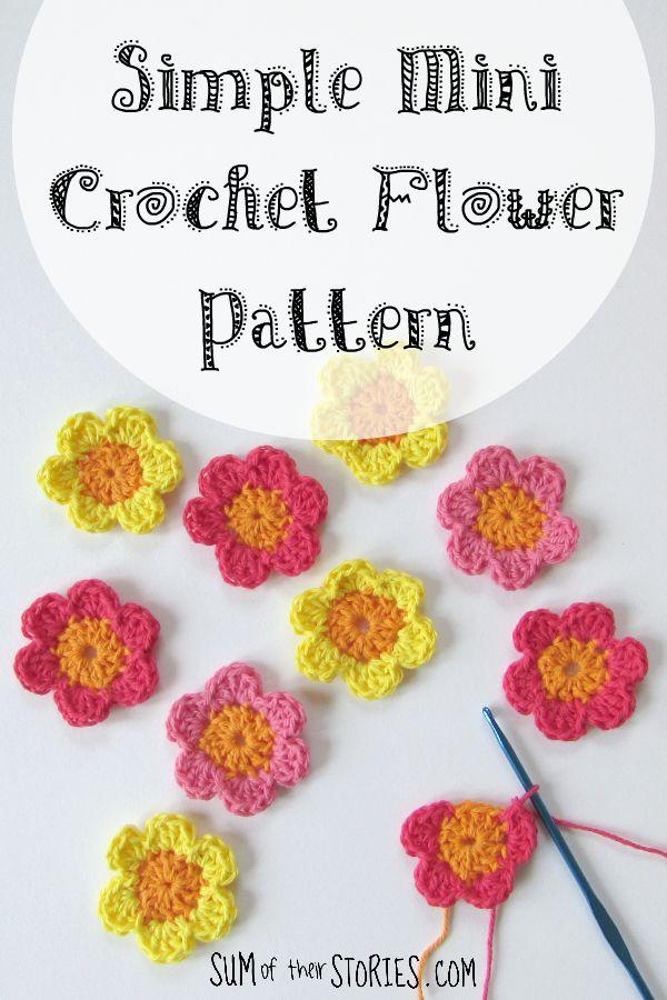 simple mini flower crochet pattern