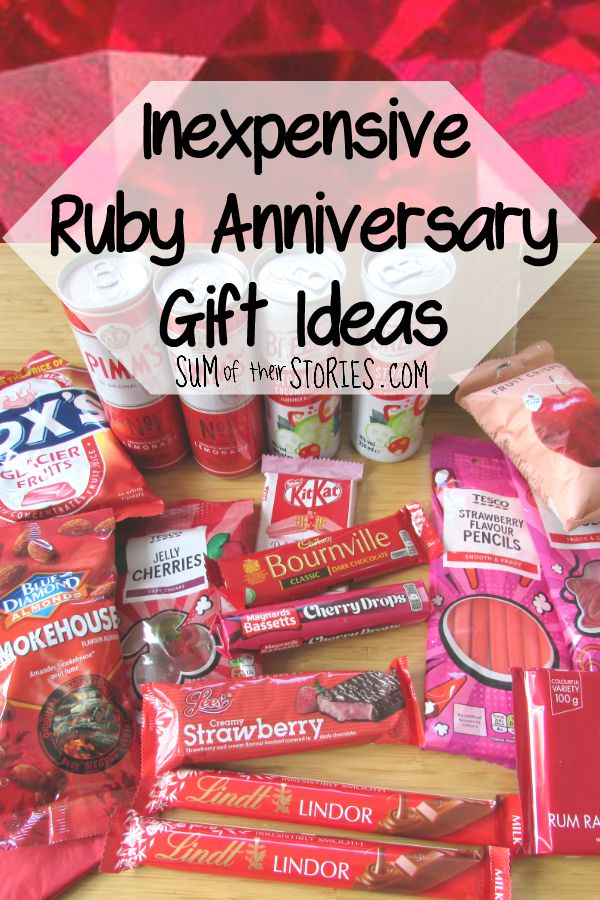 Inexpensive Ruby Wedding Anniversary Gift Ideas Sum Of Their