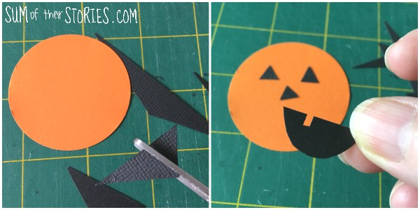 simple paper pumpkin