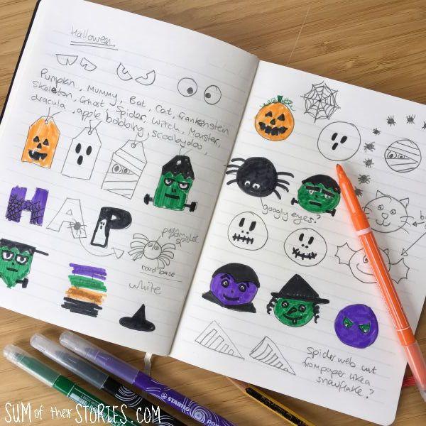 halloween craft ideas in my notebook