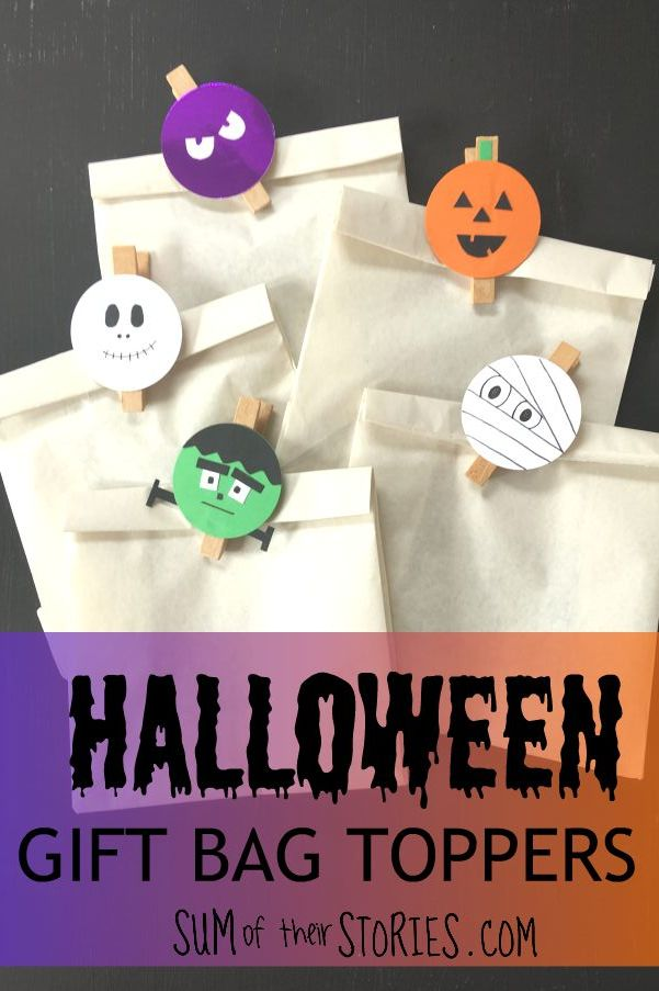Halloween party bag toppers, easy to make