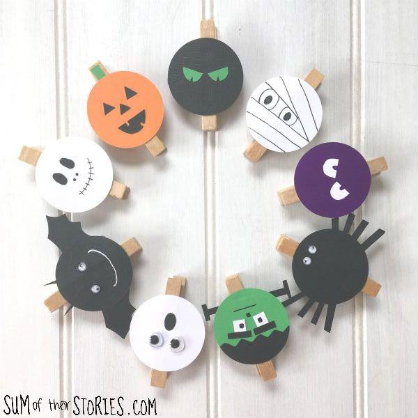 spooky peg bag topper