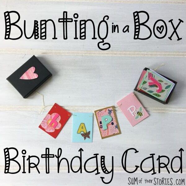 mini garland birthday card in a box