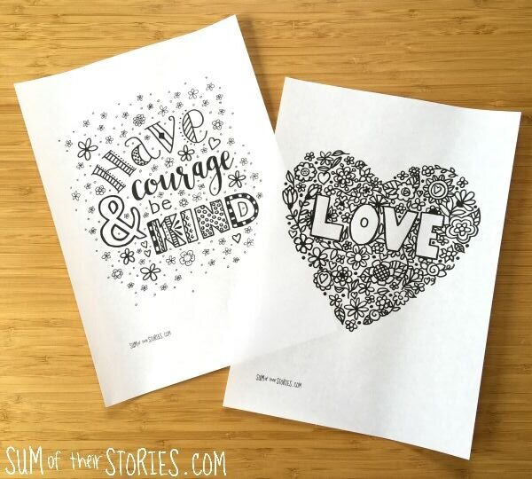 Positive Thoughts Free Printable Colouring Pages — Sum Of Their Stories  Craft Blog