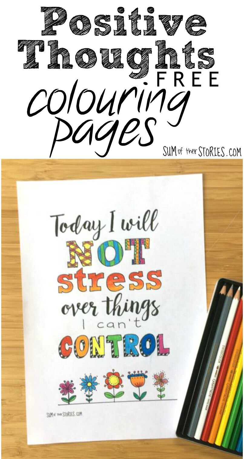 positive thoughts free printable pages