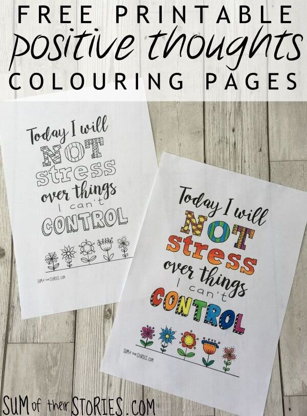 Positive Thoughts Free Printable Colouring Pages Sum Of Their Stories Craft Blog