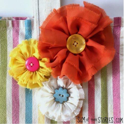 Spring Flowers Handknit Baby Topper