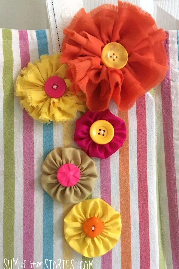 scrap fabric flowers tutorial
